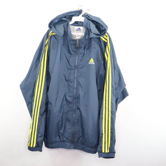 adidas Other - 90s Adidas Mens XL Spell Out Windbreaker Jacket